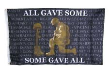 3x5 All Gave Some Some Gave All Memorial KIA POWMIA Veteran Black Flag 3'x5'