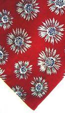 "Perry Ellis Men's Silk Floral Neck Tie Red Multi 4"" x 56"" Short"