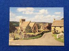 Colour postcard: Gloucestershire, Cotswolds, Snowshill village near Broadway