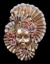 Venezianische Maske Lily - Veronese Wand Deko Figur bronziert Gesicht