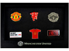 More details for manchester united fc 6 piece badge set pin badge set birthday souvenir gift idea