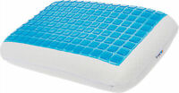 Mindful Design Slim Extra Firm Memory Foam Pillow w/ Cooling Gel Panel