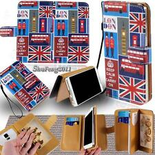 New Leather Stand Flip Wallet Cover Case For Various BlackBerry Models + Strap