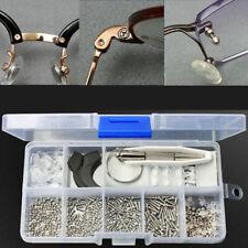 Eyeglass Sun Glasses Optical Repair Tools Assortment Kit Screw Nut Nose Pad Set