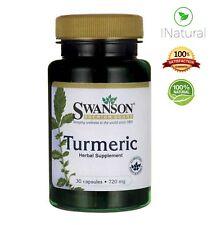 Turmeric 720mg Curcumin High Strength Pure Organic tablets- 30 Capsules
