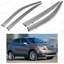 Front & Rear Window Visor Deflector Vent Shade for Buick Encore 2013-2015 2014