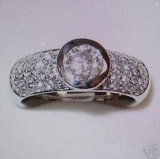 BRILLANTRING 0,90 carat 31 Brillanten 585 er Weiß , Rose oder Gelbgold alle Gr.