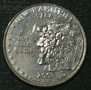 Quarter Dollar 2000-D New Hampshire UNITED STATES (857A)