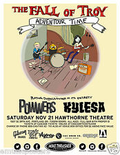 """The Fall Of Troy / Powers / Kylesa """"Adventour Time"""" 2015 Portland Concert Poster"""