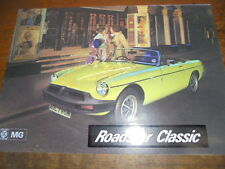 Prospetto SALES BROCHURE MG/B Roadster Classic British AUTO CAR AUTO VEICOLO