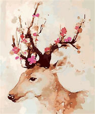 DIY digital frameless painting wall art canvas Sika deer  40*50