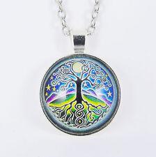 ALBERO Della Vita Collana Wicca Pagano Wicca Strega MISTICO dio celtico CERCHIO di vetro