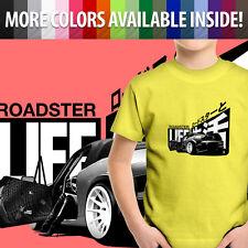 Roadster Life Japanese Mazda Miata MX5 Mazdaspeed Unisex Kids Tee Youth T-Shirt