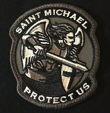 MODERN SAINT ST. MICHAEL PROTECT US TACTICAL USA ARMY ISAF SWAT HOOK PATCH
