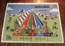 "Food Pyramid Healthy Eating Banner 63"" X 48"" Teaching Aid  mypyramid.gov"