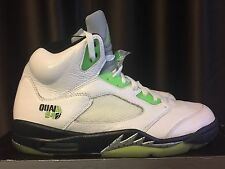 Nike Air Jordan V Q54 Quai 54 White/Radiant Green-Black (467827-105) US 11