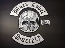 Full size Iron/Sew on Black Label Society Patches Heavy Metal Biker BLS cut vest