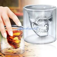 Crystal Skull Head Vodka Shot Wine Beer Glass Drinking Ware Cup Mug Home Bar CB