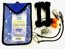 Taco Boat Outrigger Premium Rigging Kit Black f/1 Pair Outriggers RK-0001PB New