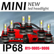 Combo COB MINI LED Headlight Kit 9005+H11+9006 6000K 3300W 495000LM Lamps Bulbs