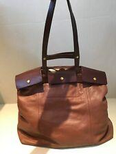 Jas M B brown and tan leather handbag