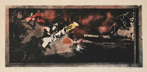 Listed Greek Artist, Jannis SPYROPOULOS Signed Original Lithograph Rare