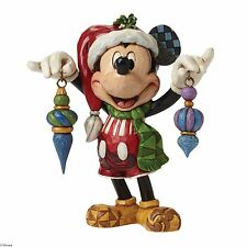 Disney Traditions Deck the Halls Mickey Mouse XMAS Figurine  NEW IN BOX 25363