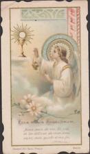 TRES BELLE IMAGE PIEUSE HOLY CARD SANTINI - ECCE PANIS ANGELORUM -ANGE/ENCENSOIR