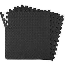 24 Mat 96 Square Feet Interlocking Exercise Floor Mats Gym Garage Home Tiles