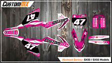 KTM SX50 SX65 Graphics Kit with custom numbers etc - SX 50 65 2002-2018 ABSTRACT