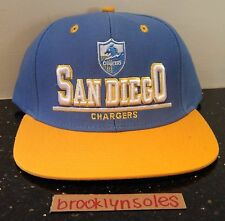 NEW Mitchell Ness Baby Blue Yellow San Diego Chargers Snapback Hat One Size