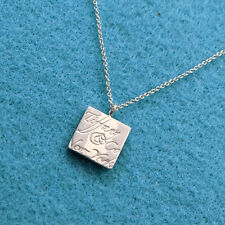 Tiffany & Co. Fifth Ave New York Notes Square Pendant Necklace, Sterling Silver