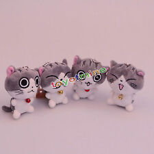 Cute Cat Plush Doll Toys Stuffed Animal Bolster Key chain Keyring Hot Sell