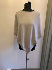 The White Company Cotton Merino Wool Grey Poncho Size XS/S Read Description
