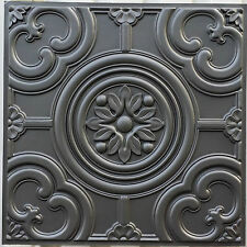 PL50 Faux tin Cellar pub Decorative Iron black color ceiling tiles 10tiles/lot