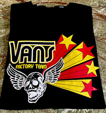 Vans Factory Team Men's Size Small Black T Shirt Surf Skate EUC