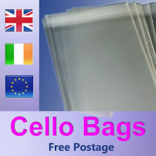 100 - DL Cello Bags for Greeting Cards and Prints - Cellophane Clear Peel & Seal