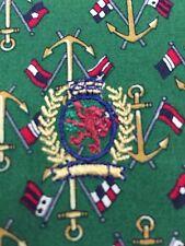 Tommy Hilfiger Vtg 90s SZ L Nautical Anchor Flag Print Crest Shirt Button Front