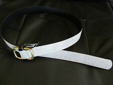 NWT J.Crew SPOTTED LEATHER BELT White Gold Oval Buckle USA XS S a3163 $58 SP14