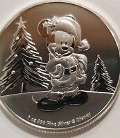 2019 Disney Mickey Mouse Christmas Santa 1 oz. 999 Silver Coin 2 dollar Niue