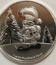 2019 Disney Mickey Mouse Christmas Santa 1 oz. 999 Silver Coin 2 dollar Niue