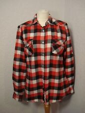 Lee Cooper red/black/white checked brushed/warm feel shirt 14