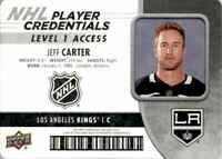 2018-19 Upper Deck MVP Player Credentials Jeff Carter #NHL-JC