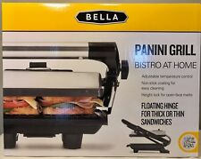 Bella Panini Grill Maker Sandwich Press Silver Stainless Steel Black Electric