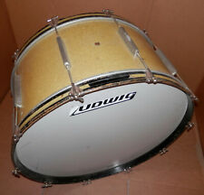 Vintage WFL Ludwig 30x14 Gold Sparkle Bass Drum !Mahogany Shell Maple Re Rings!