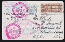 US C14 $1.30 Air Mail on Flown Post Card VF-XF SCV $400