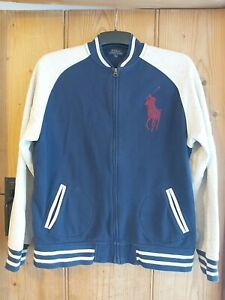 Polo Ralph Lauren Genuine Zip Cardigan Navy Blue And Grey Age XL (18-20 Years)