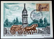 Yt 1378 CHAR ROMAIN FRANCE  Carte Postale Maximum