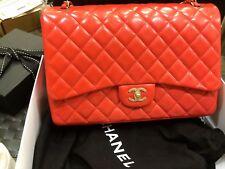 $6.5K RARE Authentic Chanel 2.55 Lambskin Maxi Jumbo Flap - GHW