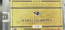 2019 Marquise Brown Panini Instant Rookie Prime Cuts RC Auto #3/10 Ravens